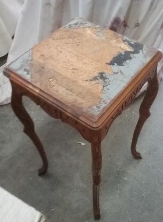 Restoring shabby chic table