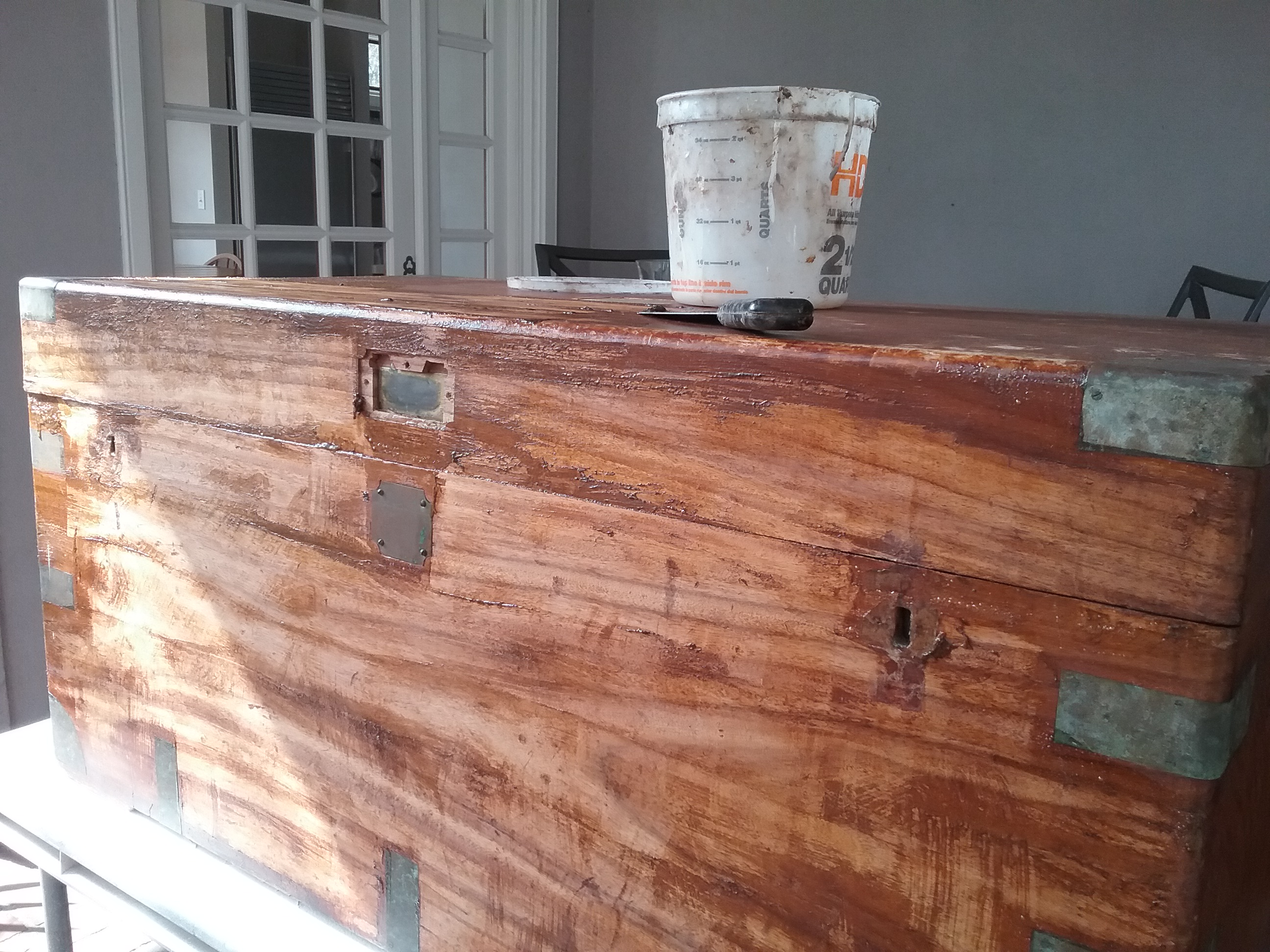 camphor chest refinish