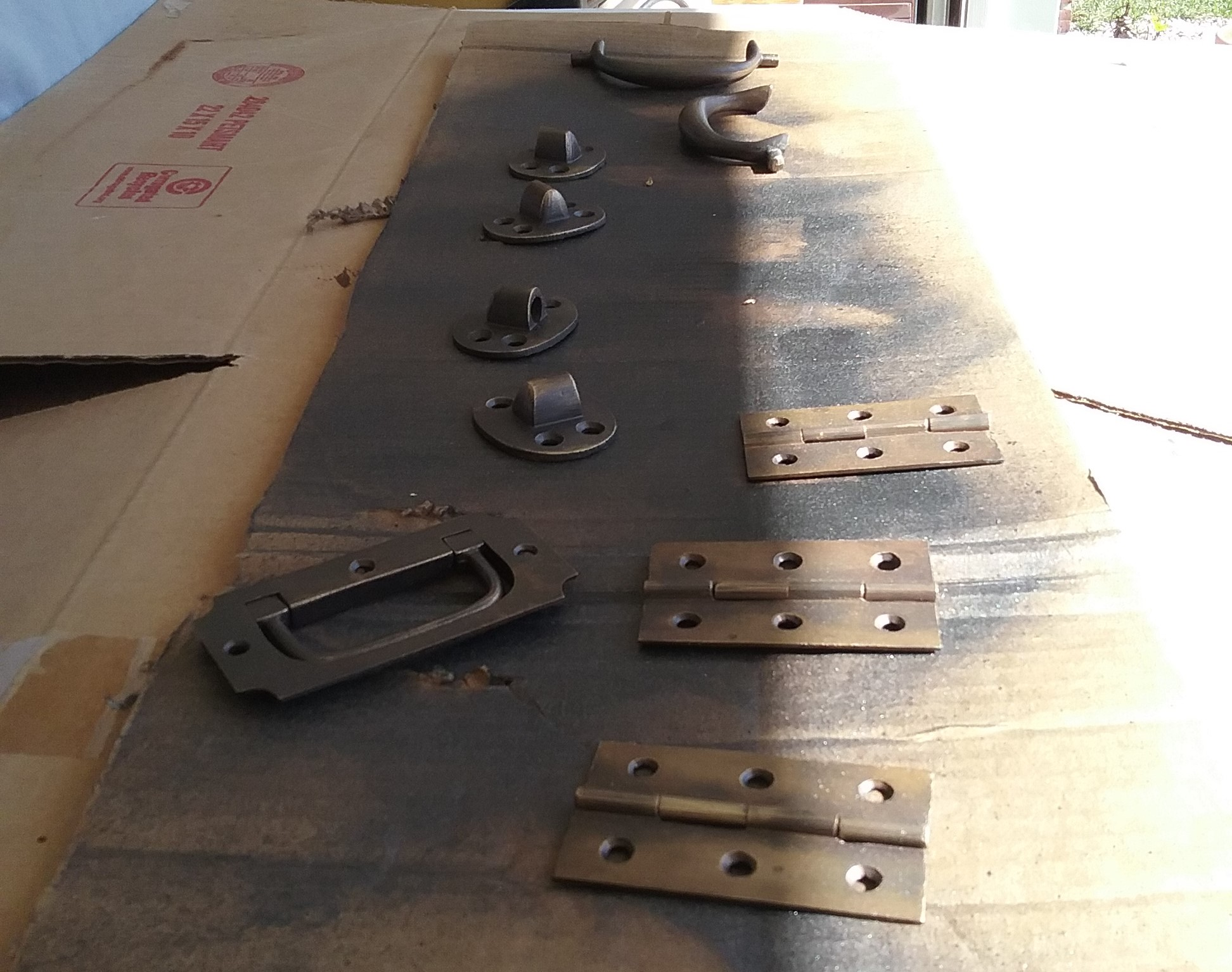 camphor trunk hardware refinish