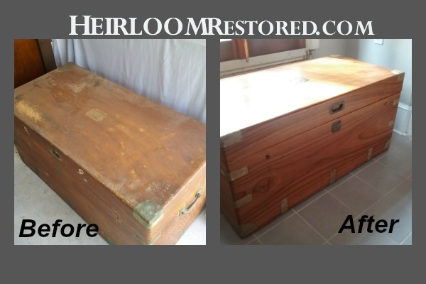 Restoration of camphor trunk or hope chest | Heirloom Restored