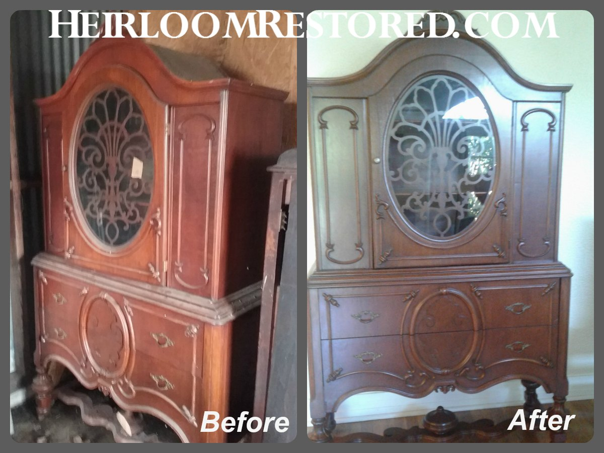 Refinished hutch | Heirloom Restored