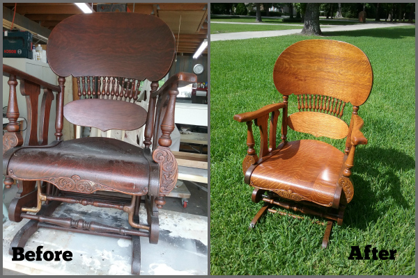 Rocker glider chair renovation
