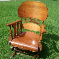 restoration of Victorian glider rocker with broken Lowentraut Mechanism