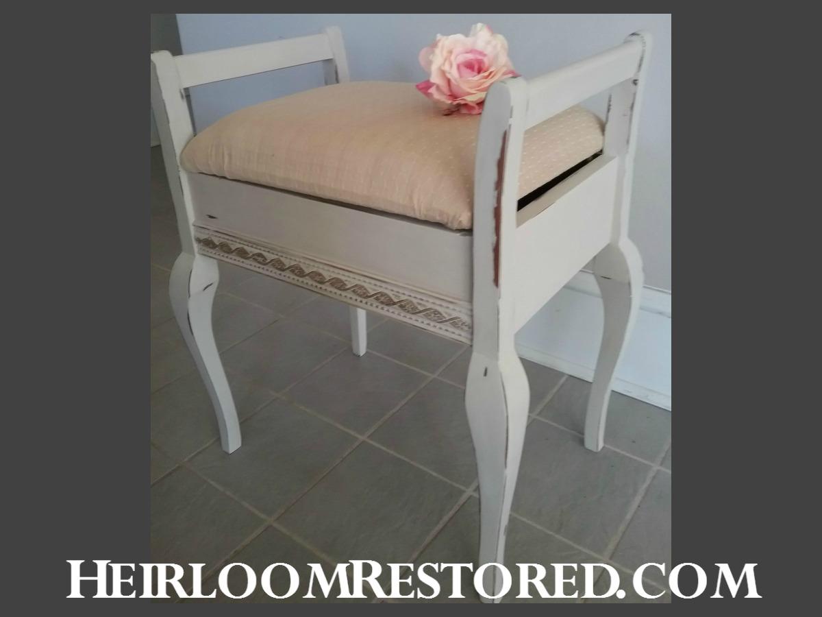 Shabby chic piano stool | Heirloom Restored